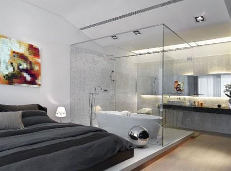 BedroomwithGlassBathroom468347 InArch