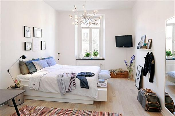 Master Bedroom At Apartment Interior Design With Scandinavian Style Inarch